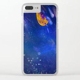 Moon Galaxy Clear iPhone Case