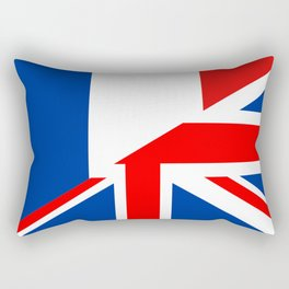 english french country half flag great britain united kingdom france Rectangular Pillow