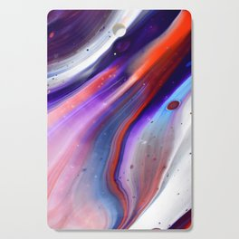 Applause Flow - Vibrant Colorful Rainbow Acrylic Fluid Painting Swirls Blue Red Purple Cutting Board