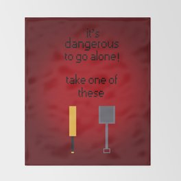 Shaun of the dead - It's dangerous to go alone! Throw Blanket
