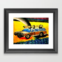 Gold Hunting Framed Art Print