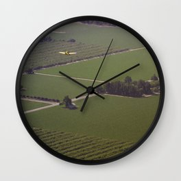 Crop Duster Wall Clock