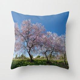 Algarve almond blossom Throw Pillow