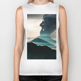 Mount Agung Volcanic Eruption Biker Tank