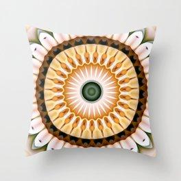Yellow Daisy Kaleidoscope Throw Pillow