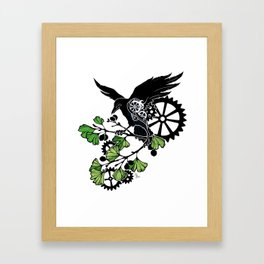 Raven and Ginkgo - Summer Cycle Framed Art Print