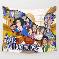 ace Wall Tapestries featuring Ace Attorney  by Derede (RM Prod)