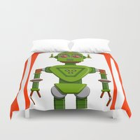 robot Duvet Covers featuring Robot by subpatch