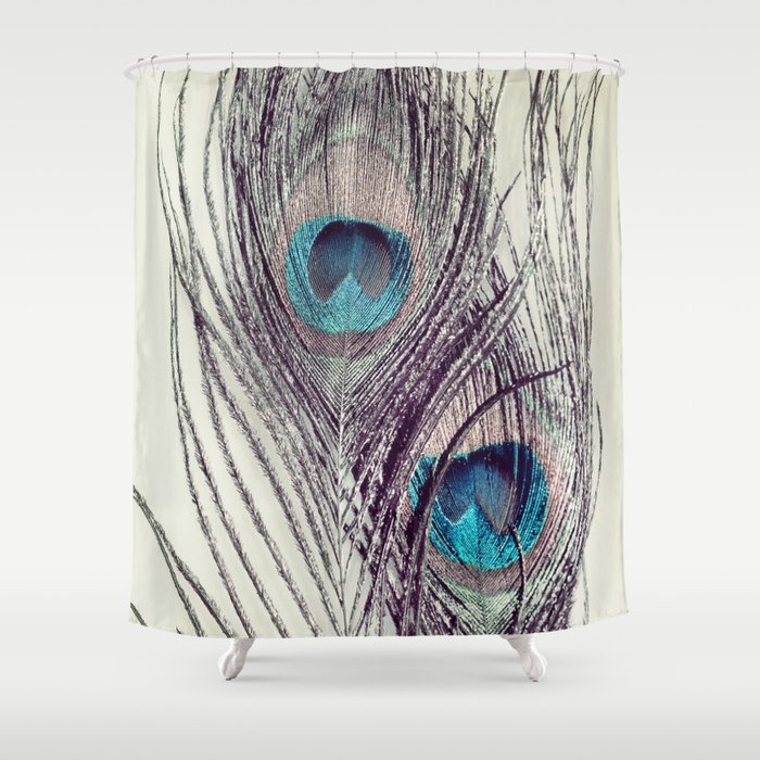 Peacock Feathers Shower Curtain By Lawsonimages
