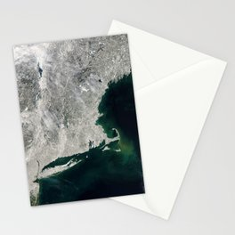 Winter Aerial View of New York, Long Island, Rhode Island, Cape Cod & New England Stationery Cards