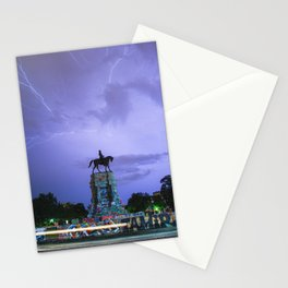 horizontal: Lightning Over Marcus David Peters Circle Stationery Cards
