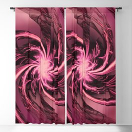 Fractal Twisted Purple & Plum Blackout Curtain
