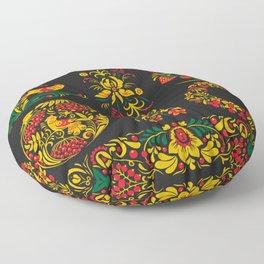 Native russian khokhloma Floor Pillow