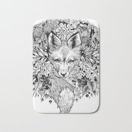 hidden fox Bath Mat