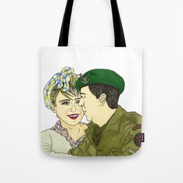 Wartime Lovers  Tote Bag