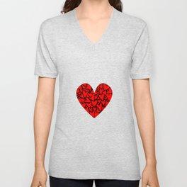 Love Hearts Unisex V-Neck