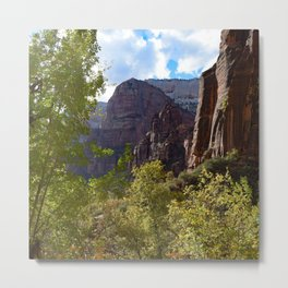Zion National Park Colors Changing Metal Print