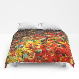 END OF THE RAINBOW - Bold Multicolor Abstract Colorful Nature Inspired Sunrise Sunset Ocean Theme Comforters