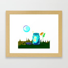 A Jar of Fireflies, also known as Lightening Bugs Framed Art Print
