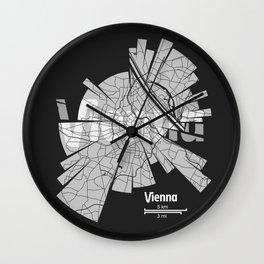 Vienna Map Wall Clock