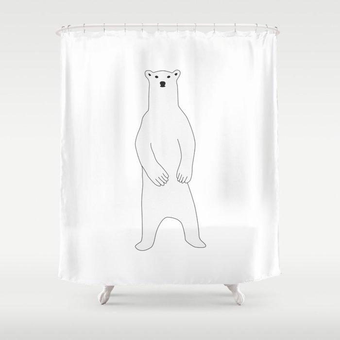 Polar Bear Standing Shower Curtain