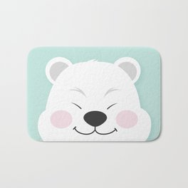 Polar Bear Smiles Bath Mat