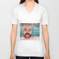 watercolour V-neck T-shirts featuring Watercolour by Jose Manuel Hortelano-Pi