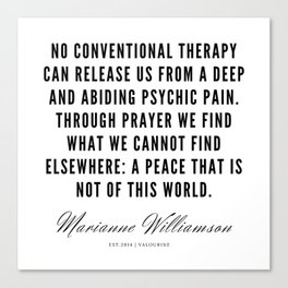 60  |  Marianne Williamson Quotes | 190812 Canvas Print