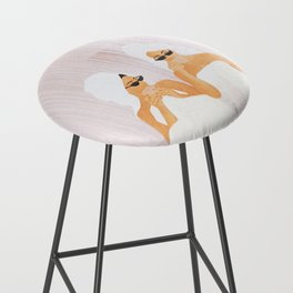 Morning with a friend Bar Stool