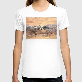 Elephants fighting T-shirt