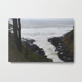 Devils Churn Oregon Coast Metal Print