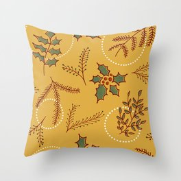 Classic Cozy #society6 #xmas Throw Pillow