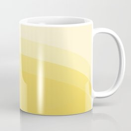 Four Shades of Yellow Curved Coffee Mug