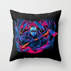 FRIDAY THE 13TH: FORCEFUL ENTRY Throw Pillow