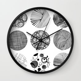 Inked IN Wall Clock