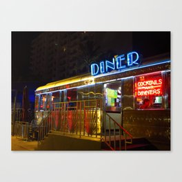 Diner Love Canvas Print