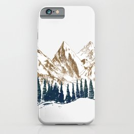 mountains 9 iPhone Case