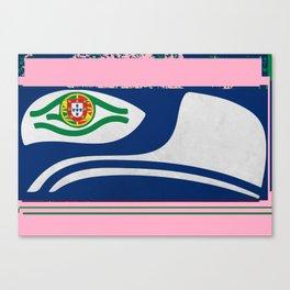 Portuguese Seahawks Hot Pink Canvas Print