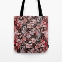 blood Tote Bags featuring Blood by Iris López