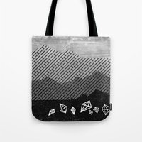 mineral Tote Bags featuring Mineral by Jenny Tiffany
