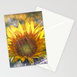 Sunflower with Lens Flare of the Suns Rays Stationery Cards
