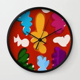Comme les gouaches Wall Clock
