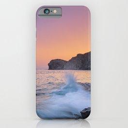 Big Wave. La Joya Beach At Sunset. Spain iPhone Case