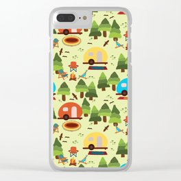 Caravan Campground Vacation Clear iPhone Case