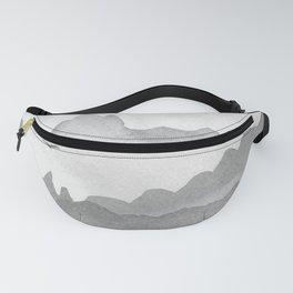 misty mountains - grey palette Fanny Pack