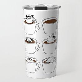 More Coffee Pug Travel Mug