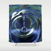 clear Shower Curtains featuring Clear blue by Imagevixen