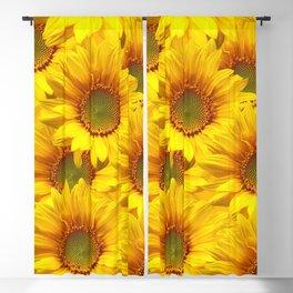 Yellow Mellow Sunflower Bouquet #decor #society6 #buyart Blackout Curtain