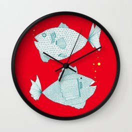 Two Old Fish Wall Clock