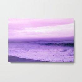 Beautiful Purple Oceanside Metal Print